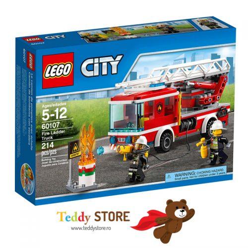 LEGO City Camion de pompieri cu scara 60107